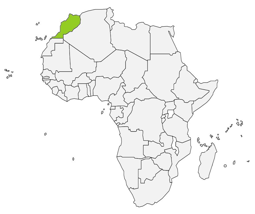 Afryka - mapa