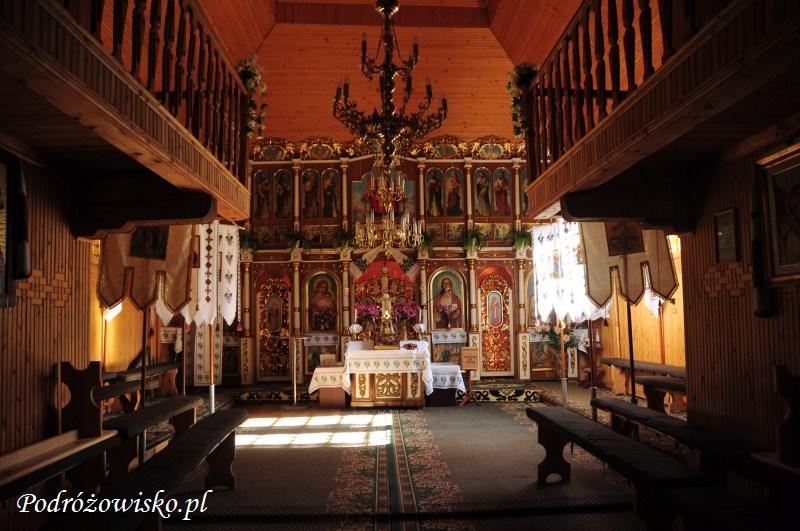 fot. Wnętrze cerkwi łemkowskiej