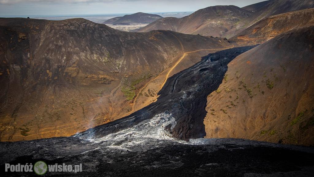 Wulkan w dolinie Geldingadalir